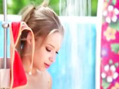 Alyssa branch, Outdoor solo, Alyssa, Blond solo, Shower solo, Shower girls