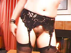 Lingerie, Pov asian, Asian stockings, Striptease, Red stocking, Solo stockings