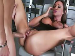 Gym, Big tits brunettes, Blowjob&fucking, Big tit milf, Asian gym, Titty fucking