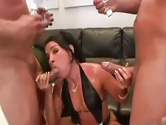Big anal threesome, Monica b, Deepthroat anal, Double facial, Threesome latin, Threesome facial