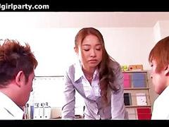 Ibu guru jepang jepang, Dua asian, Guru nafsu guru, Nafsu, Asian jepang