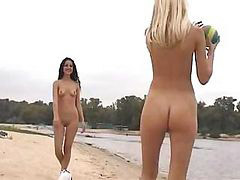 Running, Sunning, Naked beach, On sun, On beach, Beach naked