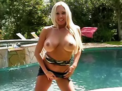 Big tits solo, Shaved solo, Outdoor solo, Masturbation outdoor, Masturbate outdoor, Blond solo