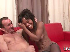 French, French blowjob, Busty ebony, Ebony milf, French ebony, Bus porn