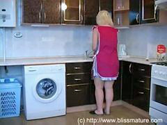 Russian, Russian mom, Mom, Mom son, Kitchen