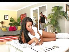 Big cock blowjob, Rihanna, Shaved cock cumming, Ebony sex, Ebony blowjob, Eboni big ass