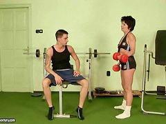 Gym, In gym, I the gym, Hard granny, Fuck gym, Fucking granny