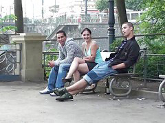 Street, Public, Public sex, Threesome sex, Public threesome, Public street