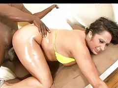 Ebony milf, Interracial asia, Asian interracial, Milf interracial, Shaved cock cumming, Shaved asian milf