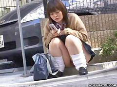 Jovencitas japonesas, Cabello, Niñas, Niña, Japonés