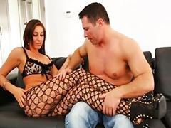 Stocking cum, Fishnet stockings, Panty job, High heels, Fishnet, Panty lick