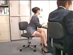 مع سيدة, مع الخدام, لحس مكتب, فى المكتب, لحس كس في كس, لحس فى المكتب