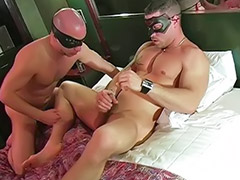 Masked, Mask, Perverted, Pervert sex, Two blowjob, Two anal