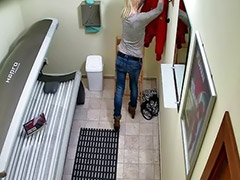 Spycam, Shaved solo, Spycams, Piercing pussy, Tanning bed, Taná
