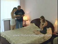 Threesome, Father, Taboo, Daughter, Sex, Family