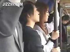 Bus, Japanese, Japanese schoolgirl, Japanese  schoolgirl, Schoolgirl bus, Japanese bus