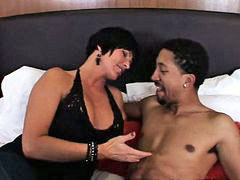 Interracial, Cougar, Youthful, Episode, With boy, Interracial busty