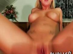 Public blowjob, Babe big tits, Pov oral, Public sex, Flashing, Her pov