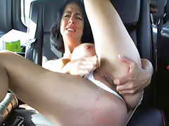 Car masturbation, Amateur pussy, Shaved solo, Anal home, On car, Toy solo