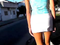 Upskirt street, Tight skirts, Tight boobs, The big boobs, The big boob, Skirting