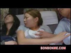 Sleeping, Sleep, Bus, Daughter