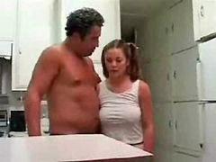Kız çocuk babası sikiyor, Abd mutfak, Kızını siken baba, Kızını sikmek, Kız çocuk, Mutfak