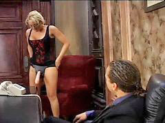 Bisexual, Bisexual threesome, Secretary and boss, Her boss, Bisexuål, Bisexuál