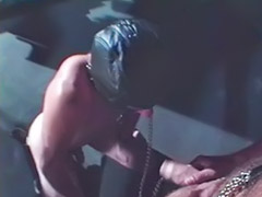 Leather, Gay leather, Anal bareback, Gay blowjobs, In bar, Throat fucked
