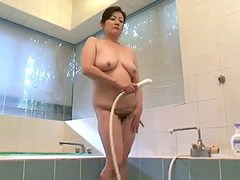 Asian show, Shower asian, My shower, My aunty, My asian, Masturbation shower