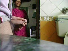 Indian, Jack him off, Indian maid, Watch him, Indian maids, Maid watching