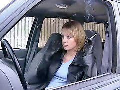 Leather, Gloved, Smoking leather, Smoking girls, Smoke girl, Leathere