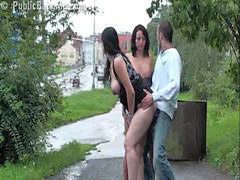 Public, Pregnant, Threesome