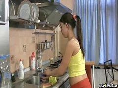 اجمل بنت, Tفي المطبخ, مص جميلات, مص ال, مطبخ بنات, لام في المطبخ