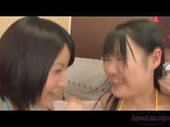 Asian, Teen, Nipples, Asian teen, Kissing, Girl kiss