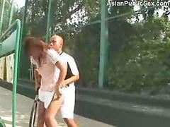 Asian, Public sex, Tennis, Tenny, Tennisลักหลับ, Tennies