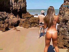 Nudist, Funny, Beach, Nudist beach, Reporter, Nudisták