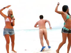 Beach public, Beach sex, Black young, On air, Bea cummings, Young public