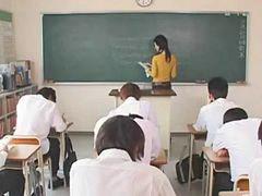 في المدرسه, في كل, مدارس, معلم, ممارسه الجنس, معلمة مدارس